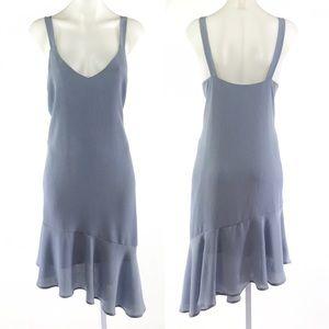 Lush Crepe Asymmetrical Hem Dress